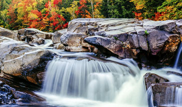 rocky river in fall season